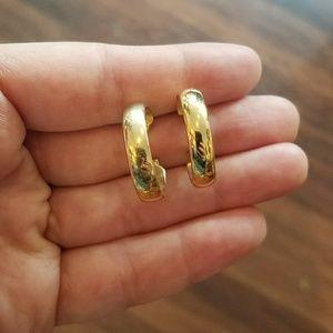 Beautiful Vintage Gold Hoop Earrings